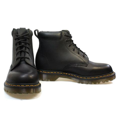 dr martens 939 ben mens black leather lace up ankle boots