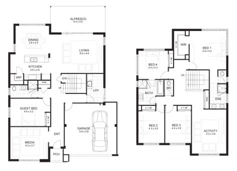 1 5 story floor plans 5 bedroom house plans 2 story house floor plans