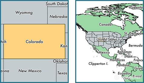 colorado united states map where is colorado state where is colorado located in