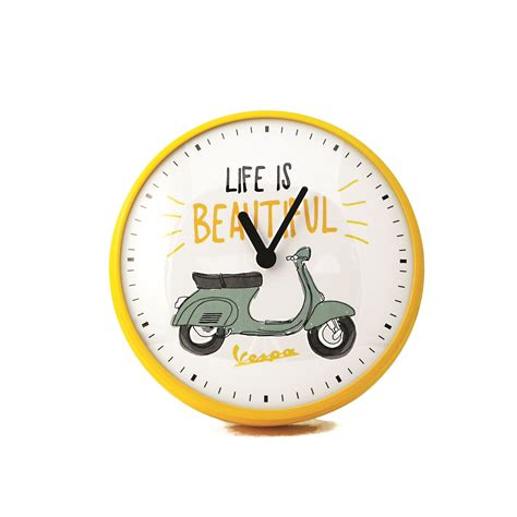 beautiful wall clock cd scooters wall clock 25cm life is beautiful