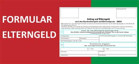 Vorlage Antrag Elternzeit Vor Geburt formular elterngeldantrag 2013 convictorius