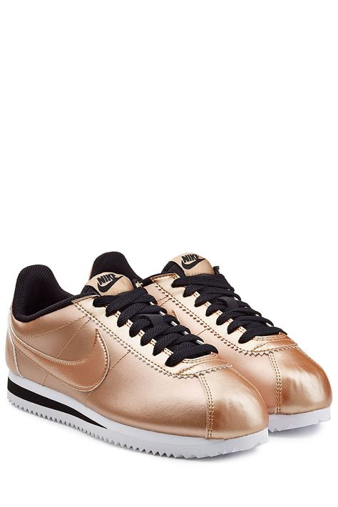 metallic gold sneakers nike classic cortez metallic leather sneakers in