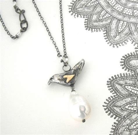 Chronoforce 5273ms Silver Black Original silver blackbird with gold and pearl by cathy newell price jewellery notonthehighstreet