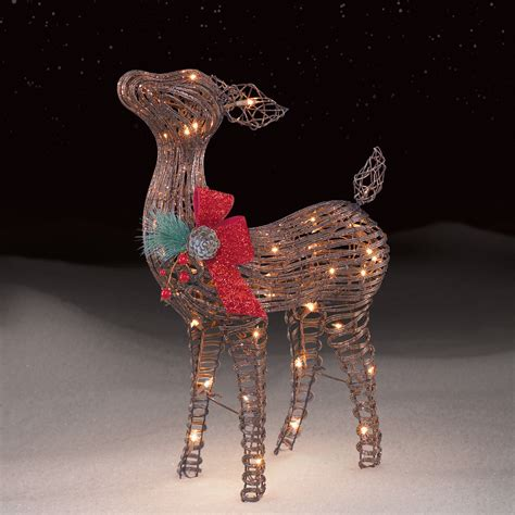 roebuck co grapevine baby fawn outdoor christmas decor