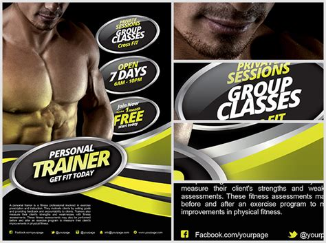 fitness flyer templates personal fitness flyer template flyerheroes