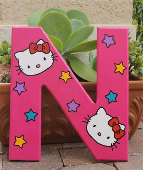 hello kitty themed wooden letters sle listing by