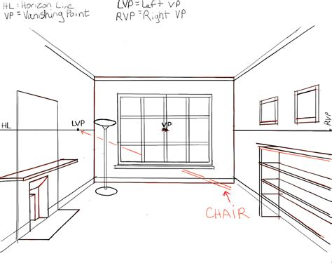 2 Point Perspective Interior Room by How To Draw The Inside Of A Room With 3 Point Perspective