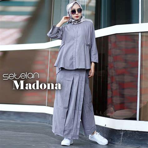 Setelan Baju Muslim 4 gamis muslim terbaru baju muslim terbaru setelan madona