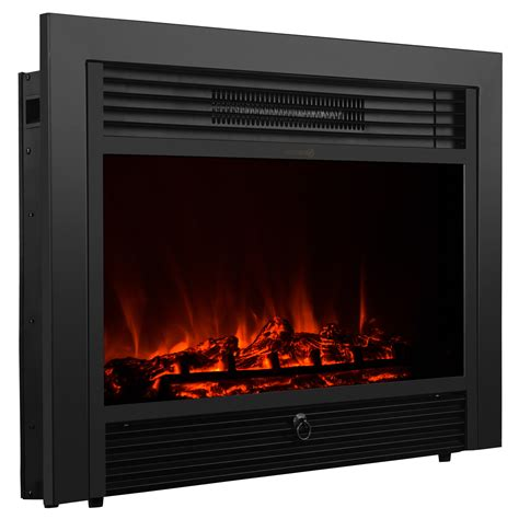 Electric Fireplace Not Heating by 28 5 Quot Embedded Electric Fireplace Insert Heater Glass View Log W Remote Ebay