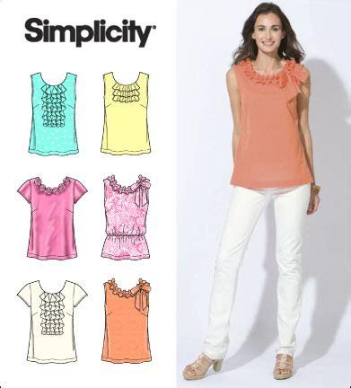 pattern review linda top simplicity 2599 misses tops