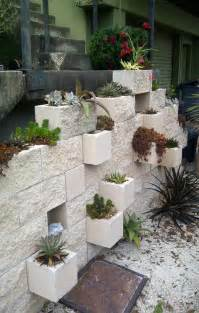 How To Make A Vertical Garden With Succulents - awesome home projects created from concrete cinder blocks architecture amp design