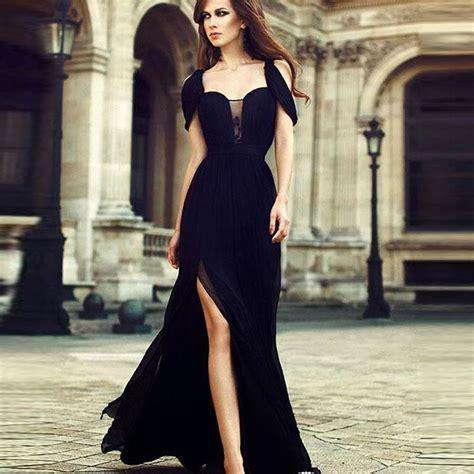 D Tale Boa Vest Dtale vestidos de gala divis 227 o lado vestido longo vestidos