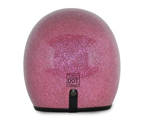 Agyo Helmet Retro Glitter Pink pink retro glitter motorcycle helmet 3 4 shell