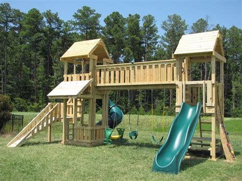 swing set with bridge london bridge cafe kids korner playsets 919 730 3211