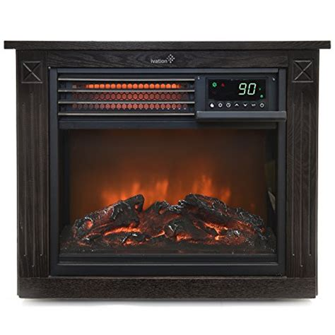 ivation 5 100 btu infrared quartz fireplace 1500w