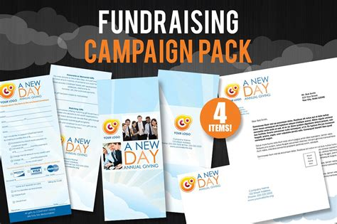 fundraising caign pack brochure templates creative