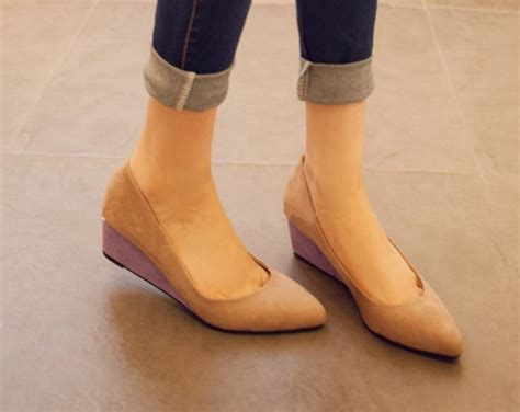 new arrival shoes pointed toe wedge heel platform ankle shoes