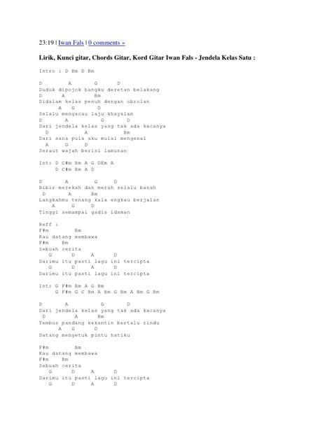 belajar kunci gitar kandas gambar apryblog kunci guitar lirik lagu iwan fals bongkar