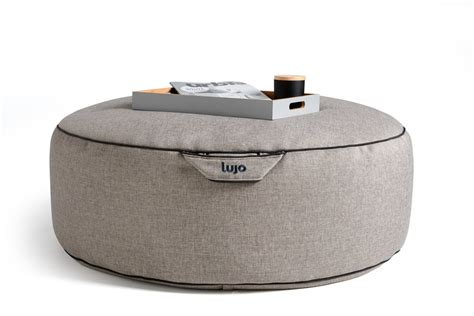 tulum outdoor bean bag pouf ottoman by lujo selector