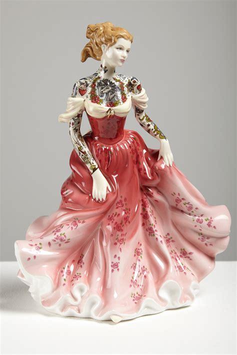 porcelain doll paint tattooed porcelain dolls offer an alternative way of