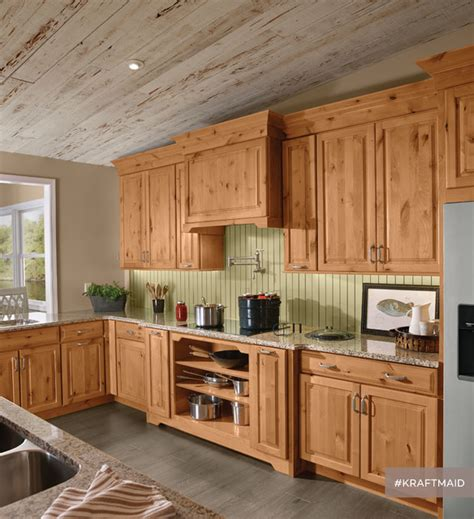 Rustic Kitchen Furniture Kraftmaid Rustic Alder Kitchen Cabinetry In