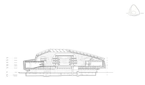 au section gallery of dalian international conference center coop