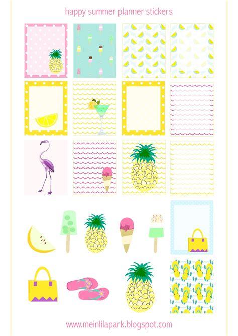 Coole Aufkleber Kostenlos by Free Printable Summer Planner Stickers Ausdruckbare