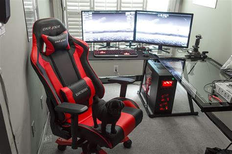 amazing battle station gaming computer desk setup black