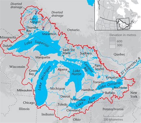 map of canada and lakes province helping local groups protect and restore the