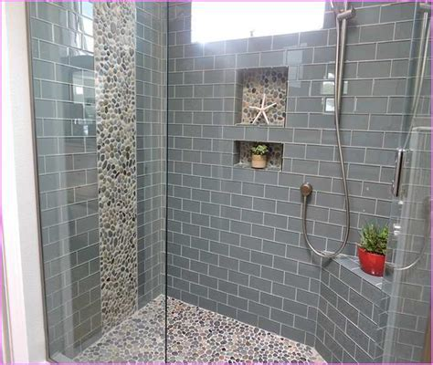 Glass mosaic tile in shower home design ideas