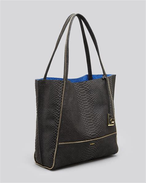 Botkier Large Tote by Lyst Botkier Soho Snake Embossed Leather Tote In Black