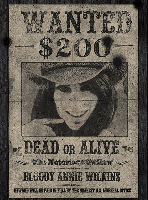 Old Wanted Poster 11 Free Printable Word Pdf Psd Western Wanted Poster Template