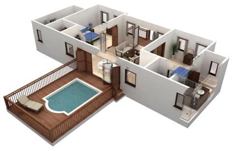 25 More 2 Bedroom 3d Marvelous 25 More 2 Bedroom 3d Floor Plans 5 Loversiq