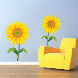 Sunflower Wall Murals Sunflower Wall Mural Decals Sunflower Wall Art By Primedecal