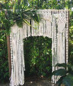 Wedding Arch Hire Gold Coast by макраме Tapices Matrimonio Y Cortinas