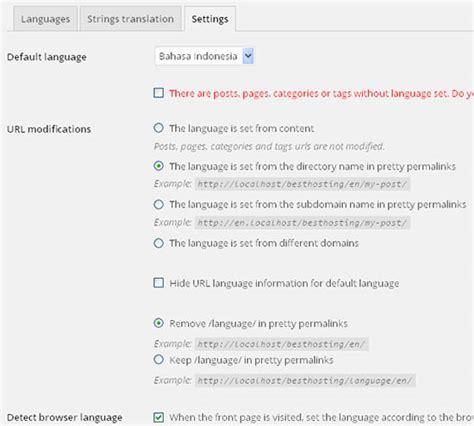 membuat wordpress dua bahasa tutorial membuat website multi bahasa dengan polylang