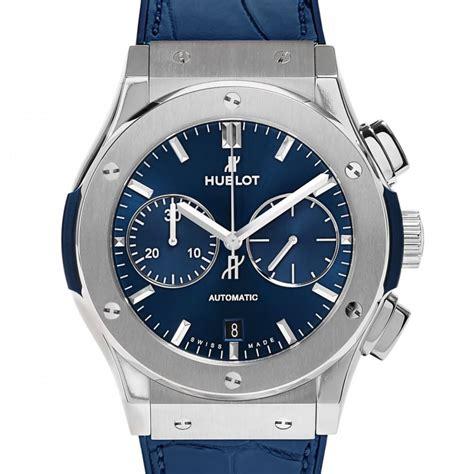 hublot titanium hublot classic fusion blue titanium chronograph unworn