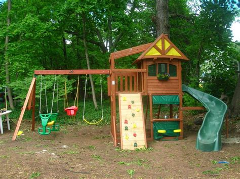 Backyard Swing Sets Big Backyard Swing Sets Outdoor Furniture Design And Ideas