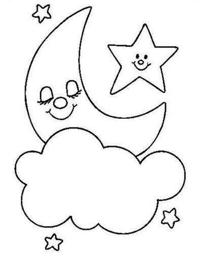 password pattern bintang 月亮和星星关于天空的简笔画 卡通动漫简笔画 5068儿童网