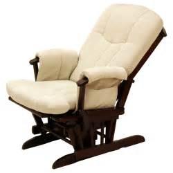 reclining rocking chair storkcraft deluxe reclining glider rocker cherry beige