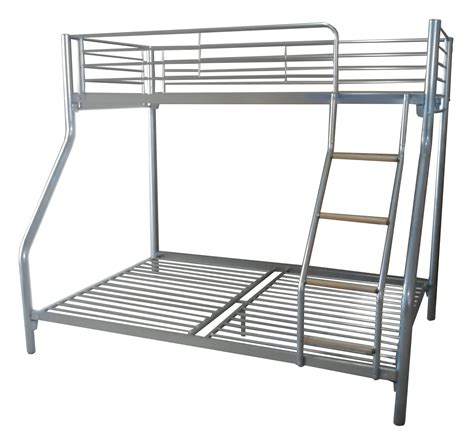 Metal Frame Bunk Bed Foxhunter Silver Kid Sleeper Bunk Bed Metal Frame No Mattress Wood Ladder Ebay