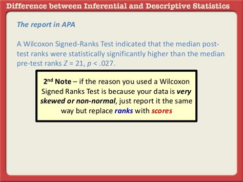 apa format z score reporting the wilcoxon signed ranks test