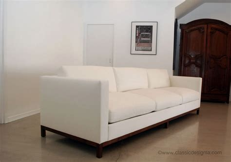 sofas and couches classic design ivory tuxedo sofa with wood base