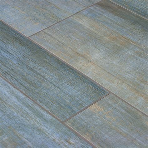 Rubber Floor Tiles For Bathrooms - barrique series blue wood plank porcelain tile