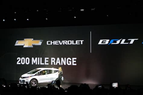 Electric Vehicle 150 Mile Range Chevy Debuts Its Bolt Electric Car At Ces Promises 200