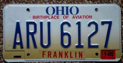 franklin county license ohio birthplace aviation wright brothers franklin county