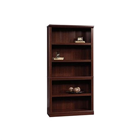 replacement shelves for bookcase sauder 5 shelf bookcase select cherry finish furniture