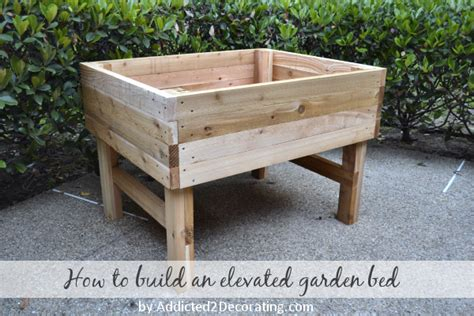 elevated raised bed elevated garden bed plans bed plans diy blueprints