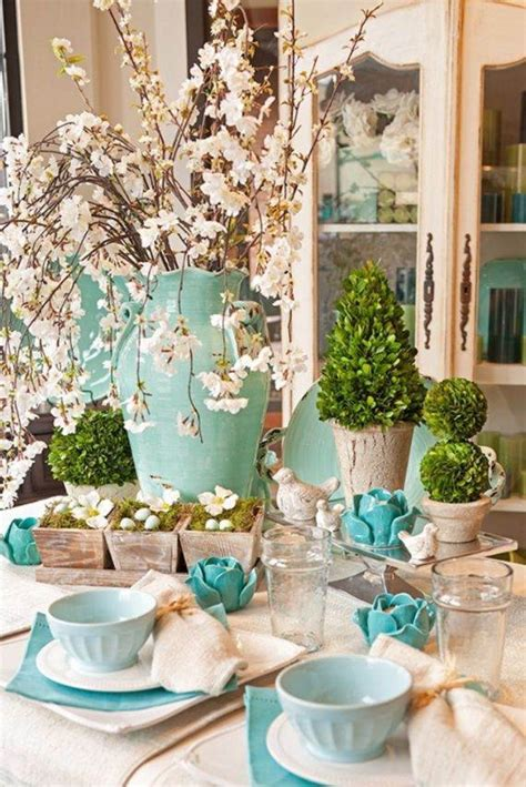Creative Table Decorations by Creative Easter Table Setting Ideas In Blue And White To