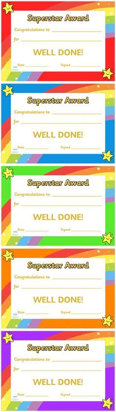 1000 images about preschool awards on pinterest award certificates